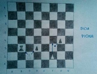 szachy bicia piona rysunek Monika Zborowska Gimnazjum nr 13 we Wrocławiu