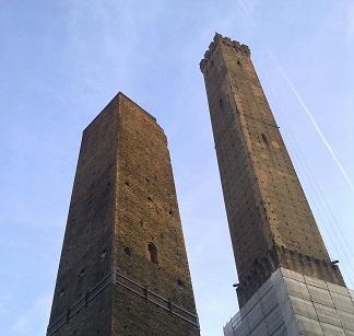 Dwie wieże w Bolonii.