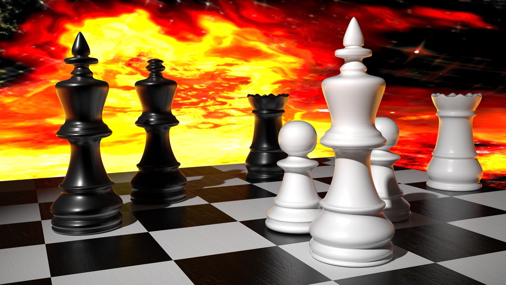 szachy wieża pionki hetman wieże