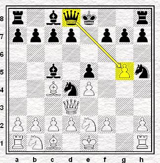 7...Hd8:g5 z dużą przewagą czarnych.