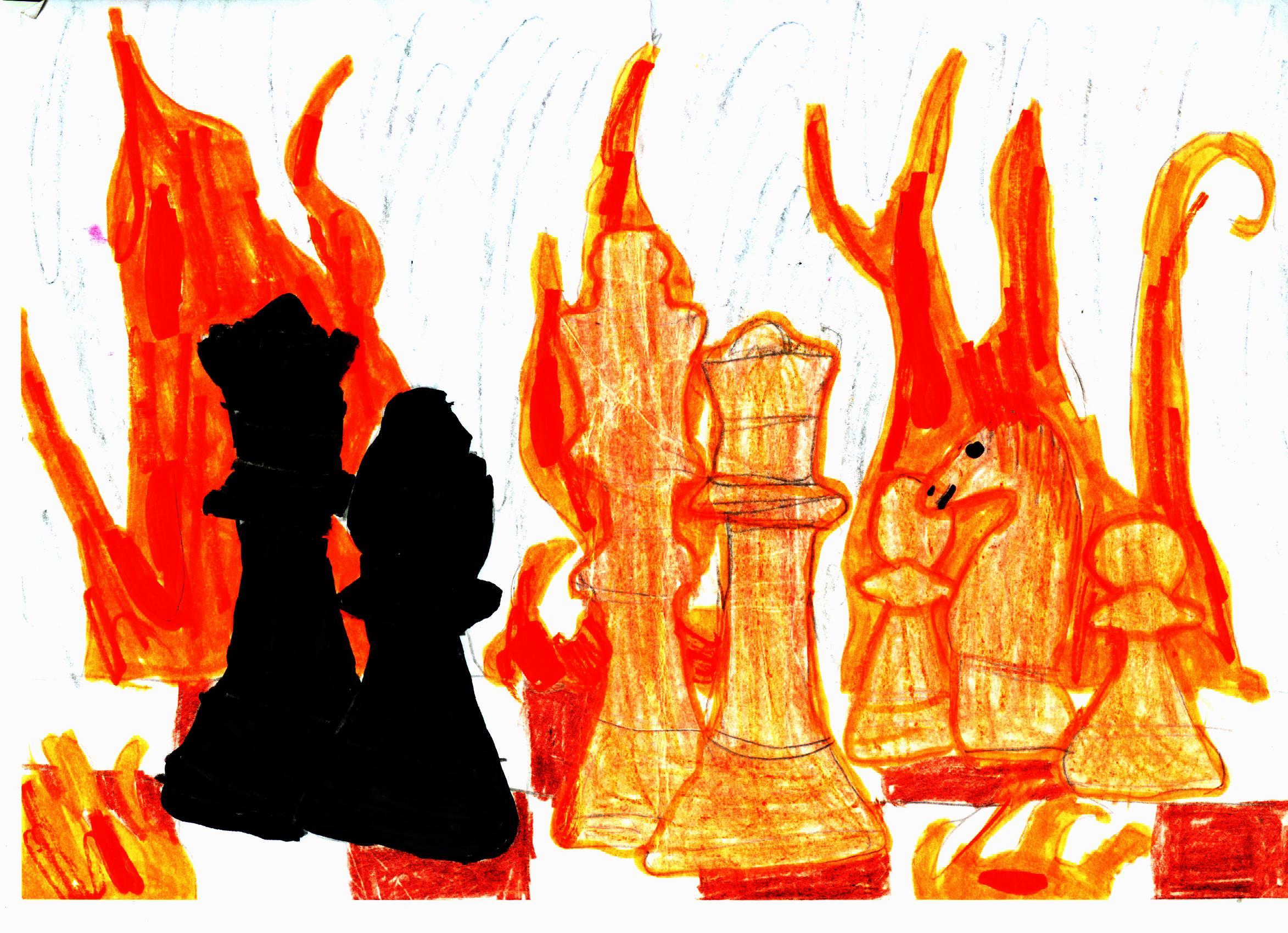 Szachy to walka! Rysunek - Kinga Merska