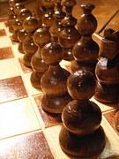 chess, szachy, czarne bierki szachowe,