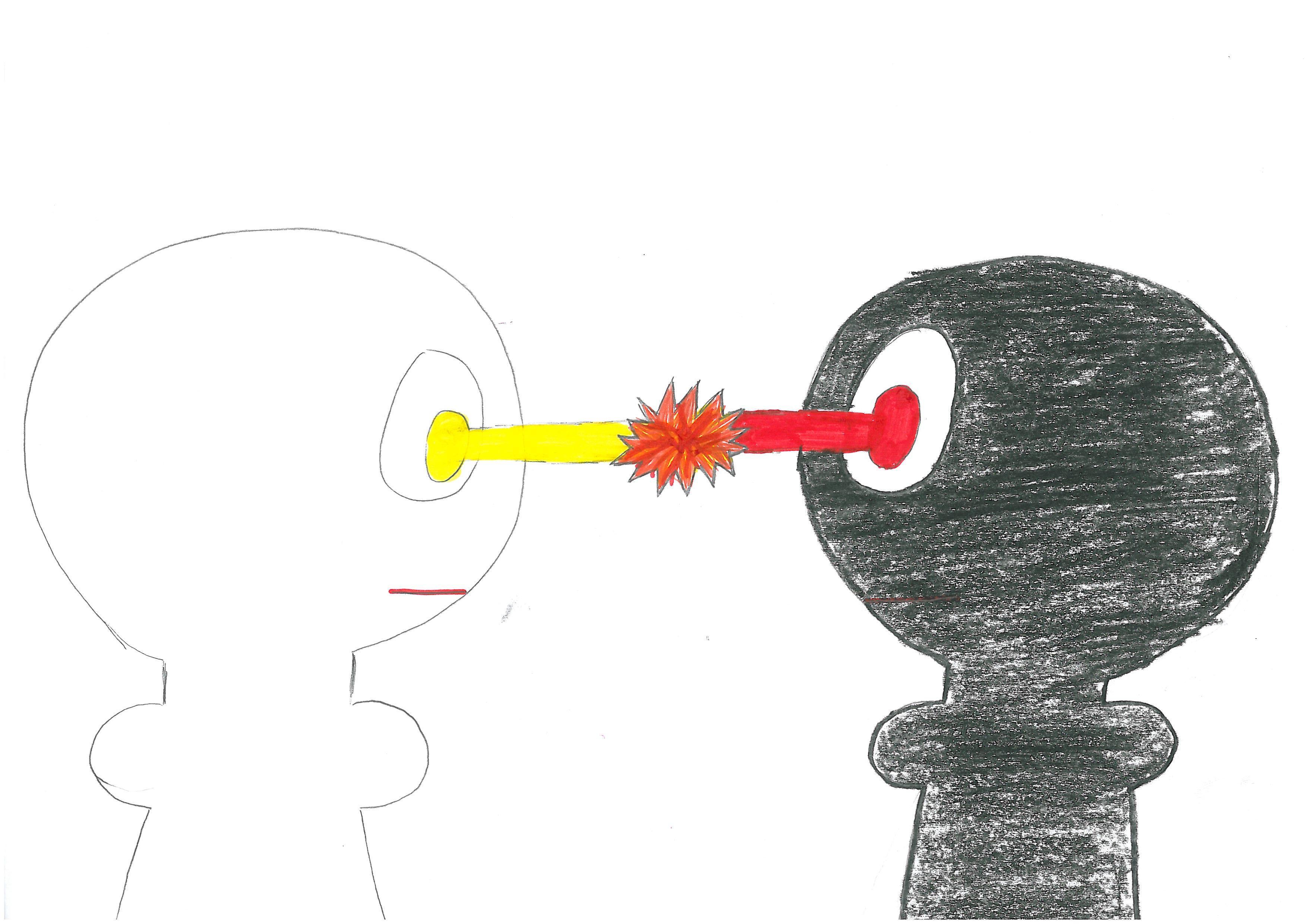 Para pionkowa. Rysunek - Magdalena Owsiany.