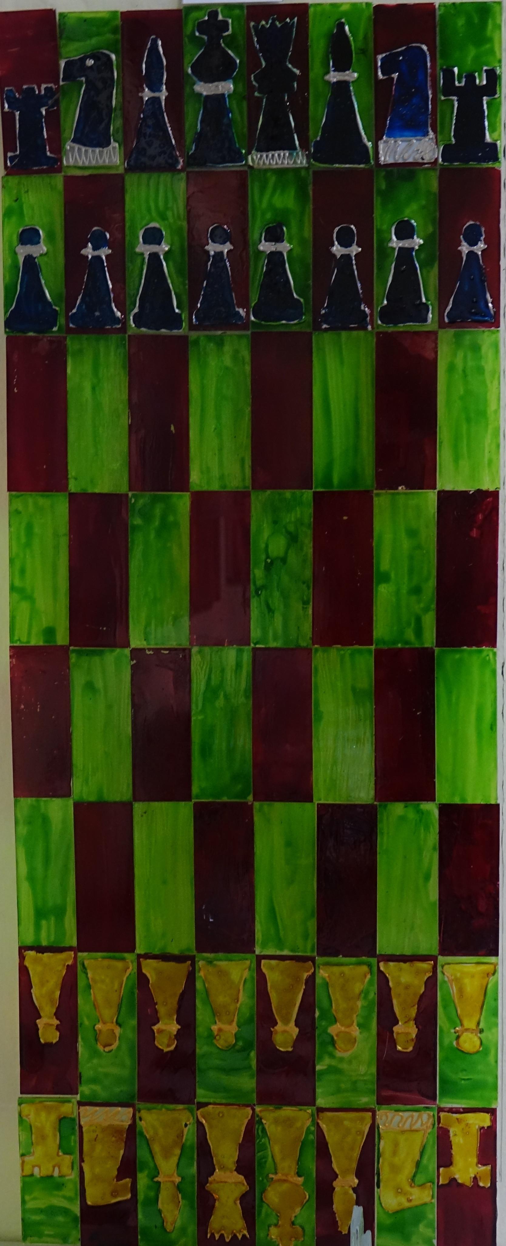 Szklane szachy. Autorka - Jagoda Wróbel.
