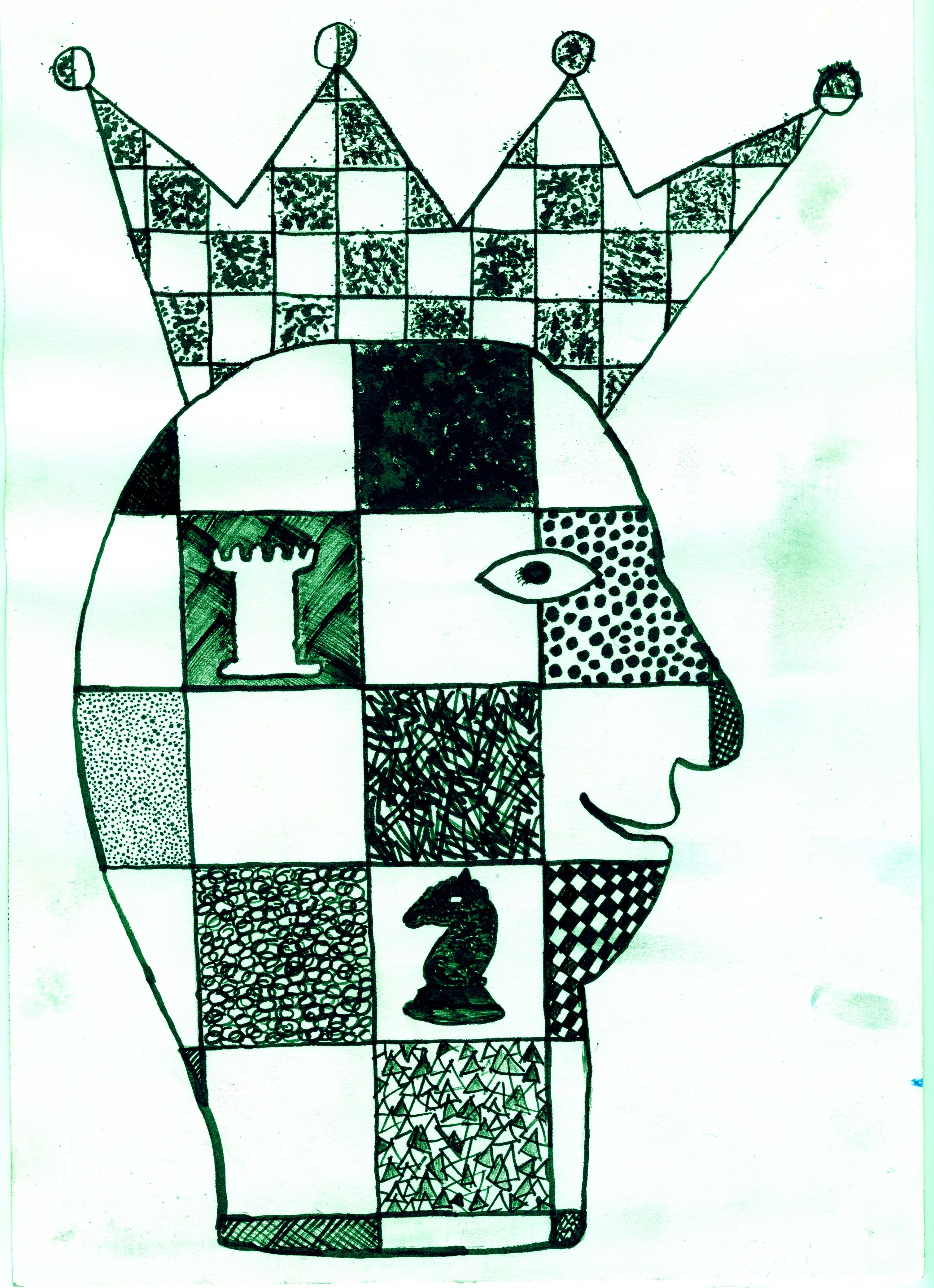 Rysunek - Monika Świgost. szachy