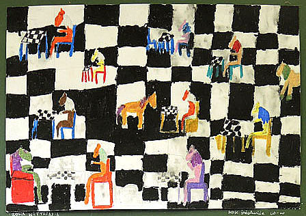 Zofia Wittlin, rysunek, królewska gra, szachy dla dzieci, interaktywny podręcznik szachowy, MDK Śródmieście Wrocław, piękno szachów, lekcje szachowe,