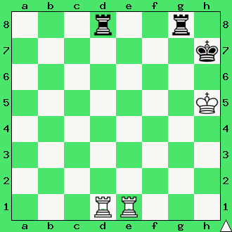 Henry Rinck, 1921, wygrana, zadanie, studium, dwie wieże, interaktywny podręcznik szachowy, lekcje szachowe, taktyka, piękno szachów, nauka gry w szachy dla dzieci, apronus, diagram,
