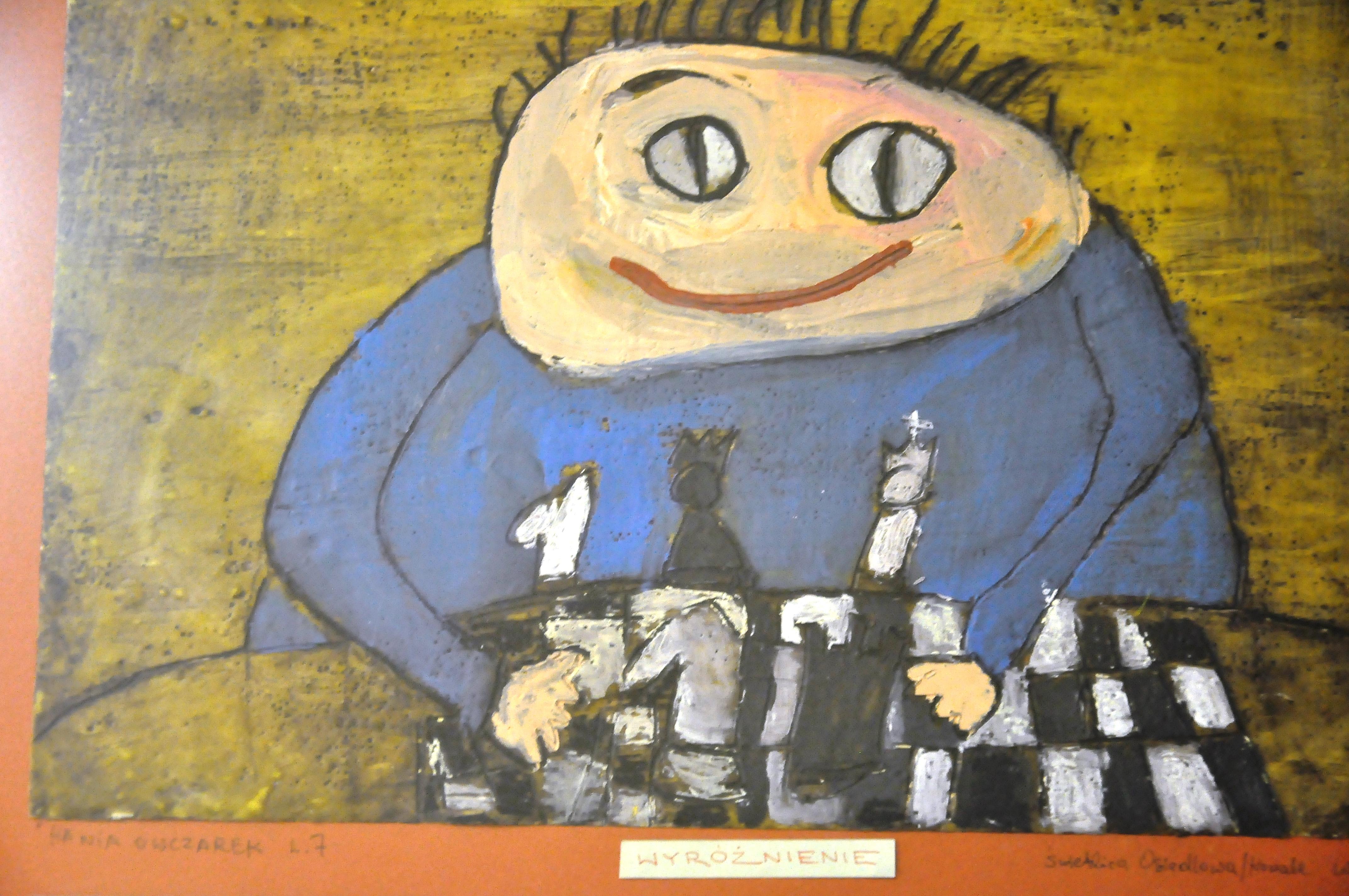 Rysunek - Hanna Owczarek. szachy