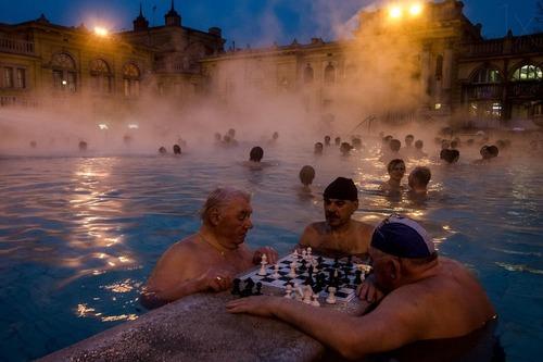 Szachy w Budapeszcie.