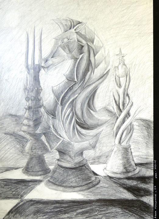 Rysunek - Adam Kozłowski.