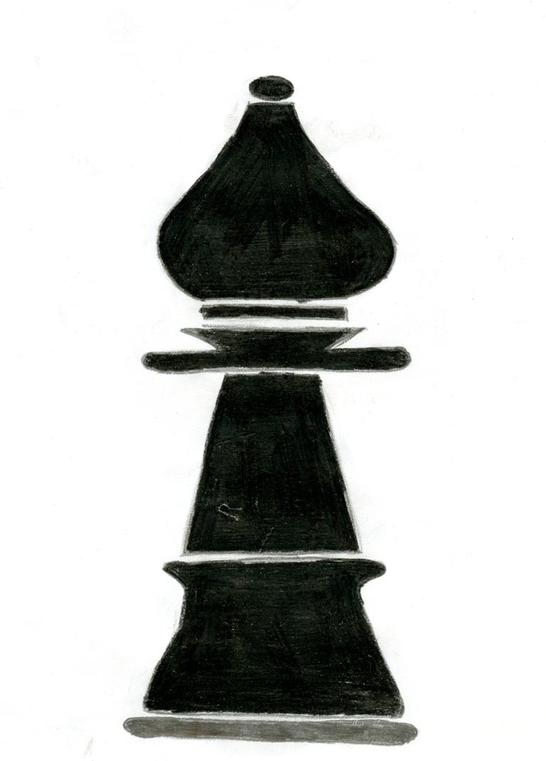 Goniec, Rysunek, Alicja Bulkowska, Gimnazjum nr 13 we Wrocławiu im. Unii Europejskiej, szachy, piękno w szachach, interaktywny podręcznik szachowy,