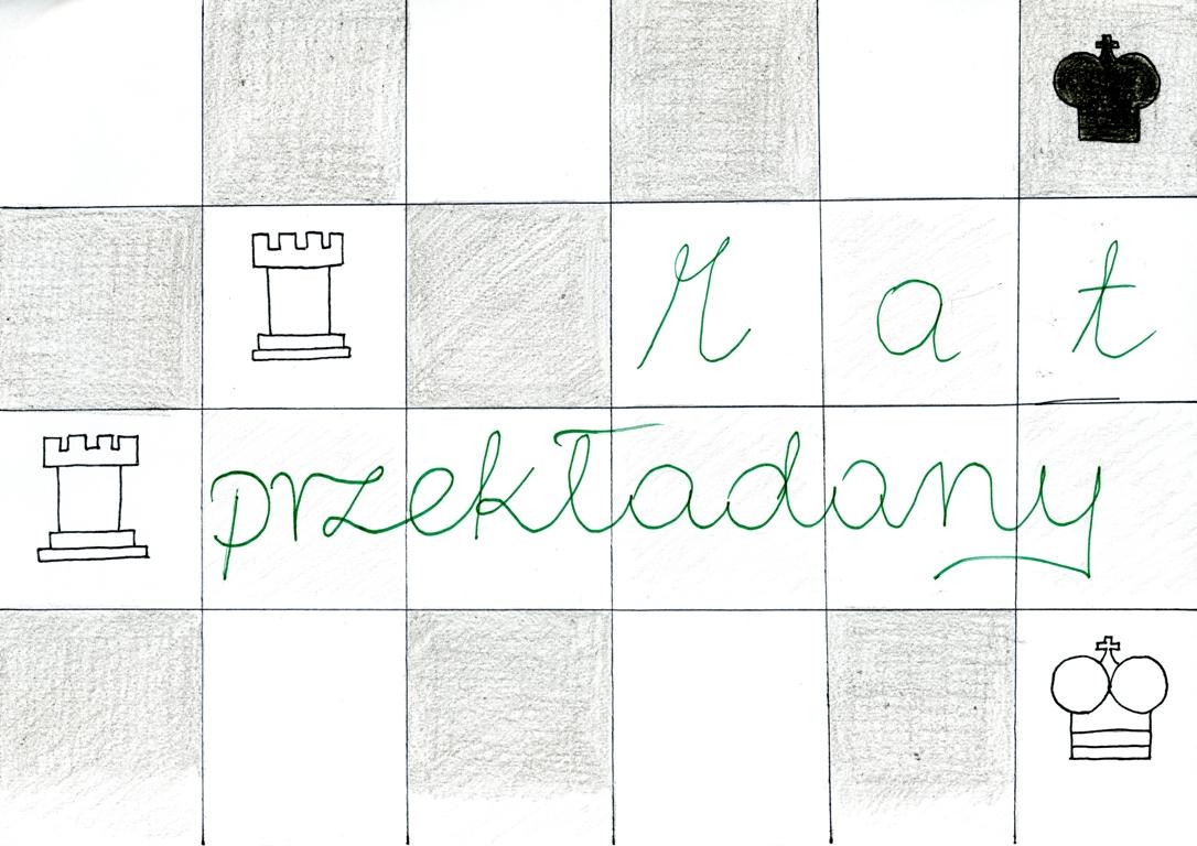 Mat przekładany. Rysunek - Zuzanna Wojtala.