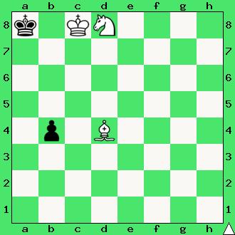 szachy zadanie mat w 2 posunięciach goniec skoczek król pion pionek