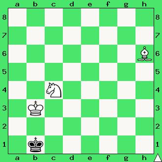 szachy zadanie mat w 2 posunięciach goniec skoczek król