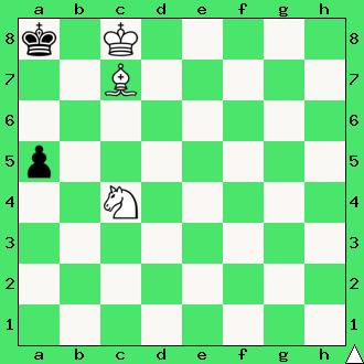 szachy zadanie mat w 2 posunięciach goniec skoczek król pionek pion