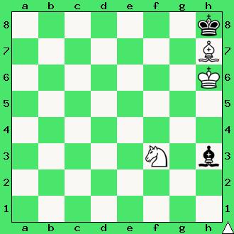 szachy zadanie mat w 2 posunięciach goniec skoczek król gońce