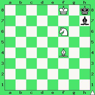 szachy, zadanie, mat w 2 posunięciach, goniec, skoczek, król, gońce, interaktywny podręcznik szachowy, apronus, nauka szachów dla początkującychpodręcznik
