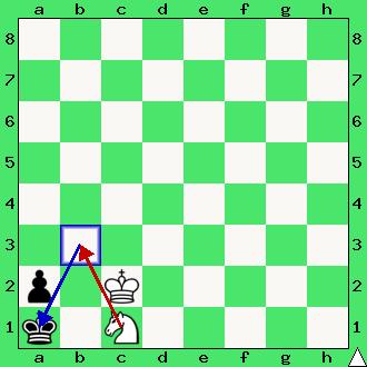 Mat skoczkiem, cel gry w szachy, koniec partii szachowej, interaktywny podręcznik szachowy, diagram, apronus,