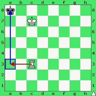 Mat wieżą, diagram, apronus, wieża, król, atak na króla, koniec partii szachowej, interaktywny podręcznik szachowy, lekcje szachowe, szachy dla początkujących,