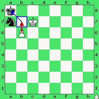 Mat pionkiem, pionek, pion, bierka szachowa, koniec partii szachowej, cel gry w szachy, interaktywny podręcznik szachowy, król, śmierć króla, diagram, apronus,