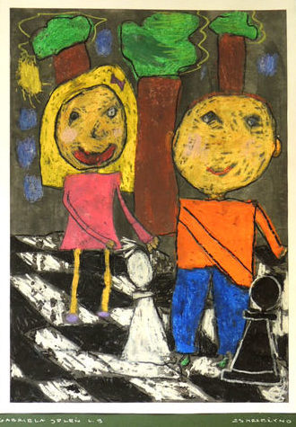 Rysunek - Gabriela Jeleń. KRÓLEWSKA GRA - SZACHY