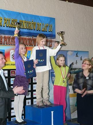 Cel gry w szachy, Zofia Frej, Alicja Śliwicka, Agata Dwilewicz, szachistki, mistrzostwa polski w szachach, juniorki, zawodniczki, mistrzynie, podium, sukces, interaktywny podręcznik szachowy, Mielno,