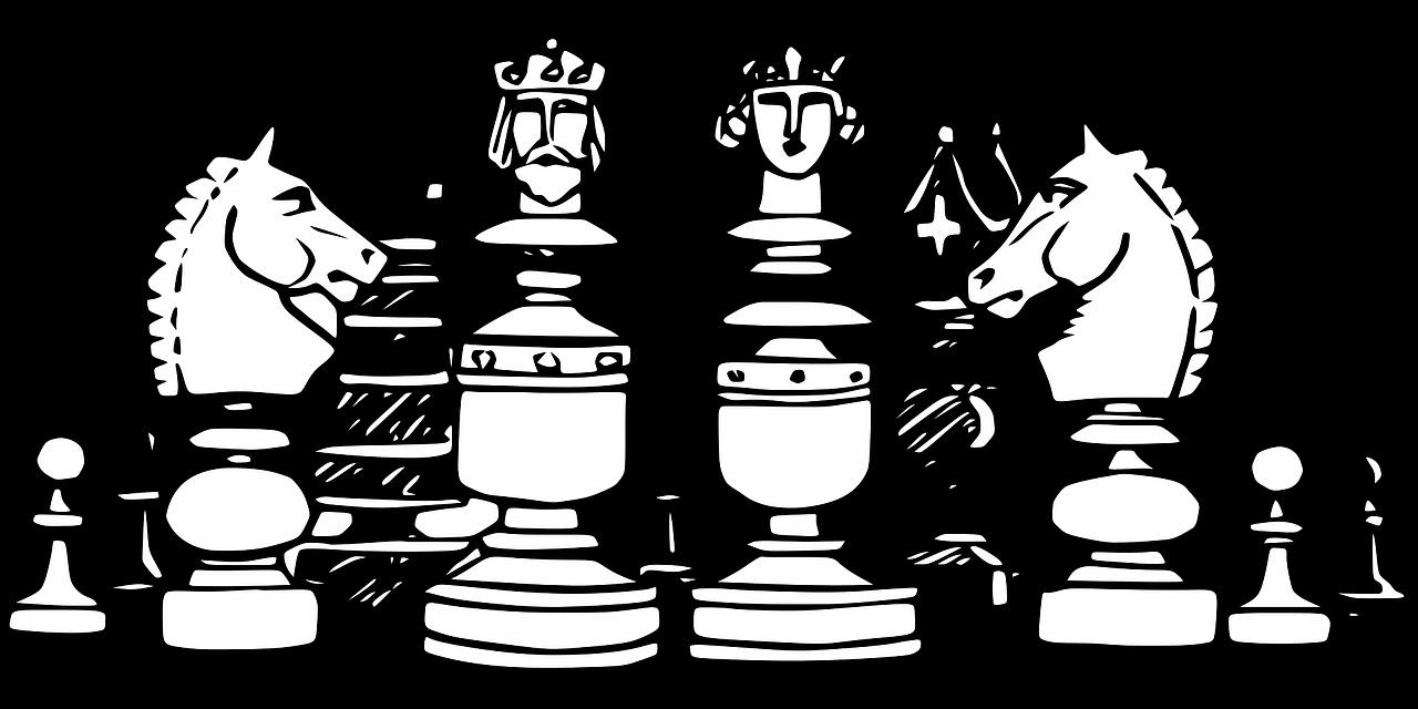 szachy skoczki bierki figury
