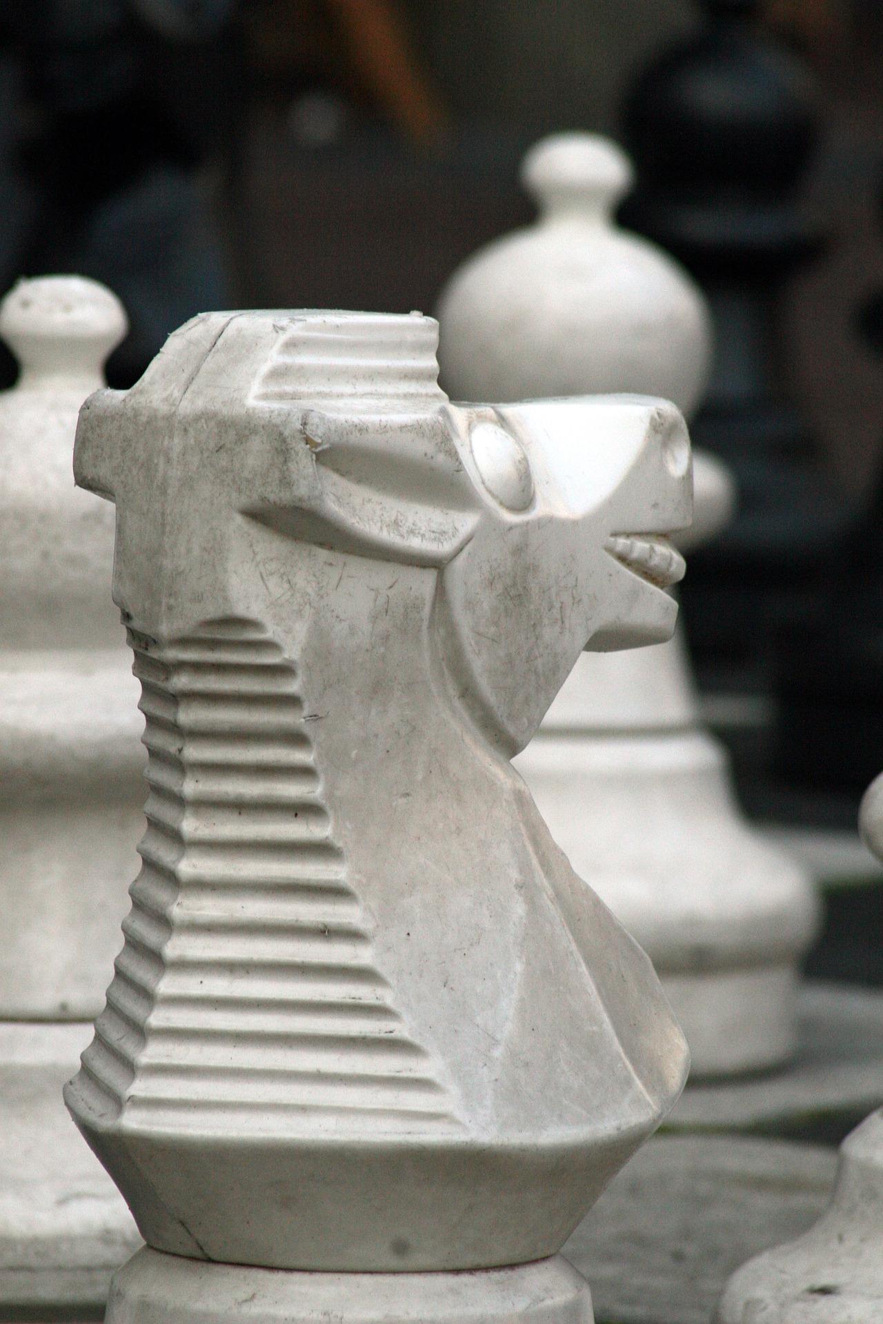 szachy skoczek goniec