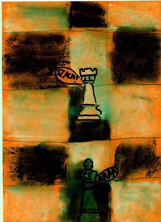 Szach, Rysunek, Artur Boszko, KRÓLEWSKA GRA, SZACHY, dla początkujących, interaktywny podręcznik szachowy, mdk śródmieście wrocław, piękno w szachach,