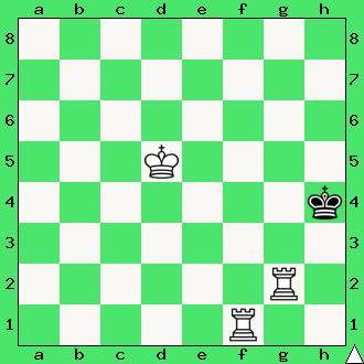 szachy mat dwie wieże król przekładaniec schodkowy przekładany kroczący
