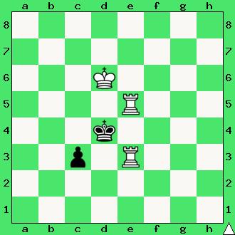 szachy, interaktywny podręcznik szachowy, dwie wieże, apronus, matowanie dwiema wieżami, szachownica, diagram statyczny,