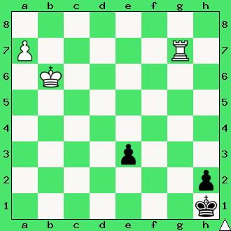 szachy, matownie wieżą i pionami, interaktywny podręcznik szachowy, apronus, promocja pionka,