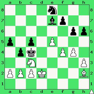 nauka gry w szachy, interaktywny podręcznik szachowy, matowanie skoczkiem i gońcem, mat w 2 posunięciach, apronus, szachowe zadanie