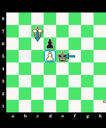Para pionkowa, pozycja wzajemnego zugzwangu, para blokujących się pionów, obustronny zugzwang, końcówka pionowa, diagram jinchess, szachownica, zapis pełny, notacja szachowa pełna, lekcje szachowe, nauka szachów, interaktywny podręcznik szachowy, króle, pionki, piony, szachy dla początkujących, pierwszy krok w szachach, współrzędne, posunięcia,