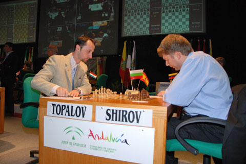 ChessBase, The former FIDE world champion Topalov faces Latvian-Spanish GM Shirov,