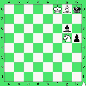 Władimir Bron, 1952, studium, wygrana, białe wygrywają, lekcje szachowe, nauka szachów, diagram, szachownica, apronus, interaktywny podręcznik szachowy, król, goniec, skoczek, mat,