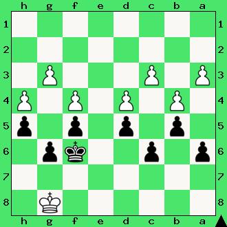 Strugarek, Ćwiczenia, interaktywny podręcznik szachowy, apronus, diagram, końcówka pionowa, szachy dla dzieci, lekcje szachów, gra z komputerem, partia szachowa, król, pionki, hetman, promocja, pierwszy krok w szachach,