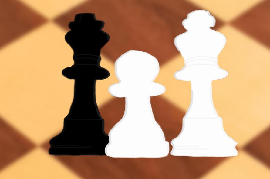 król, pionek, piękno szachów, grafika, Tomasz Dulny, Gimnazjum nr 13 im. Unii Europejskiej we Wrocławiu, szachy dla dzieci, bierki szachowe, interaktywny podręcznik szachowy, król i pionek przeciwko królowi, końcówka pionkowa, Dawid Przepiórka,