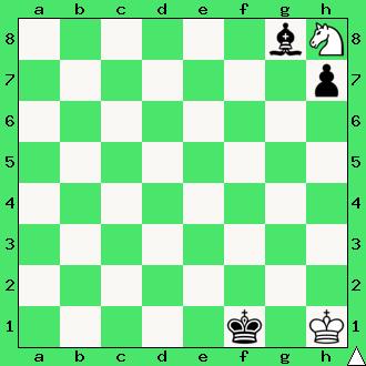 szachy dla dzieci, ćwiczenie, gra z komputerem, szachowa końcówka, wygrana, diagram, apronus, interaktywny podręcznik szachowy, posunięcie białych, goniec, król, pionek, skoczek, lekcje szachowe, piękno szachów,