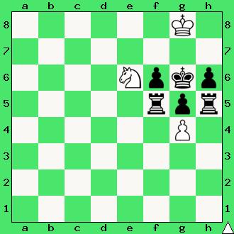 szachy dla dzieci, ćwiczenie, gra z komputerem, szachowa końcówka, wygrana, diagram, apronus, interaktywny podręcznik szachowy, posunięcie białych, król, pionki, skoczek, wieże, lekcje szachowe, piękno szachów,