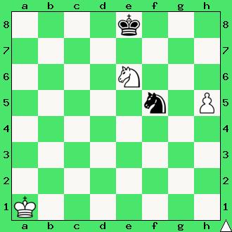 Studium, Andre Cheron, 1952, Wygrana, szachy dla dzieci, ćwiczenie, gra z komputerem, szachowa końcówka, diagram, apronus, interaktywny podręcznik szachowy, posunięcie białych, król, pionek, skoczki, lekcje szachowe, piękno szachów,