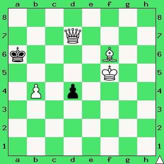 mat w 2 ruchach, szachy dla dzieci, interaktywny podręcznik szachowy, rozwiązanie zadania szachowego, lekcje szachowe, matowanie hetmanem i gońcem, uczymy się szachów, daj mata w dwóch posunięciach, diagram, apronus, goniec, hetman, król, piękno w szachach,