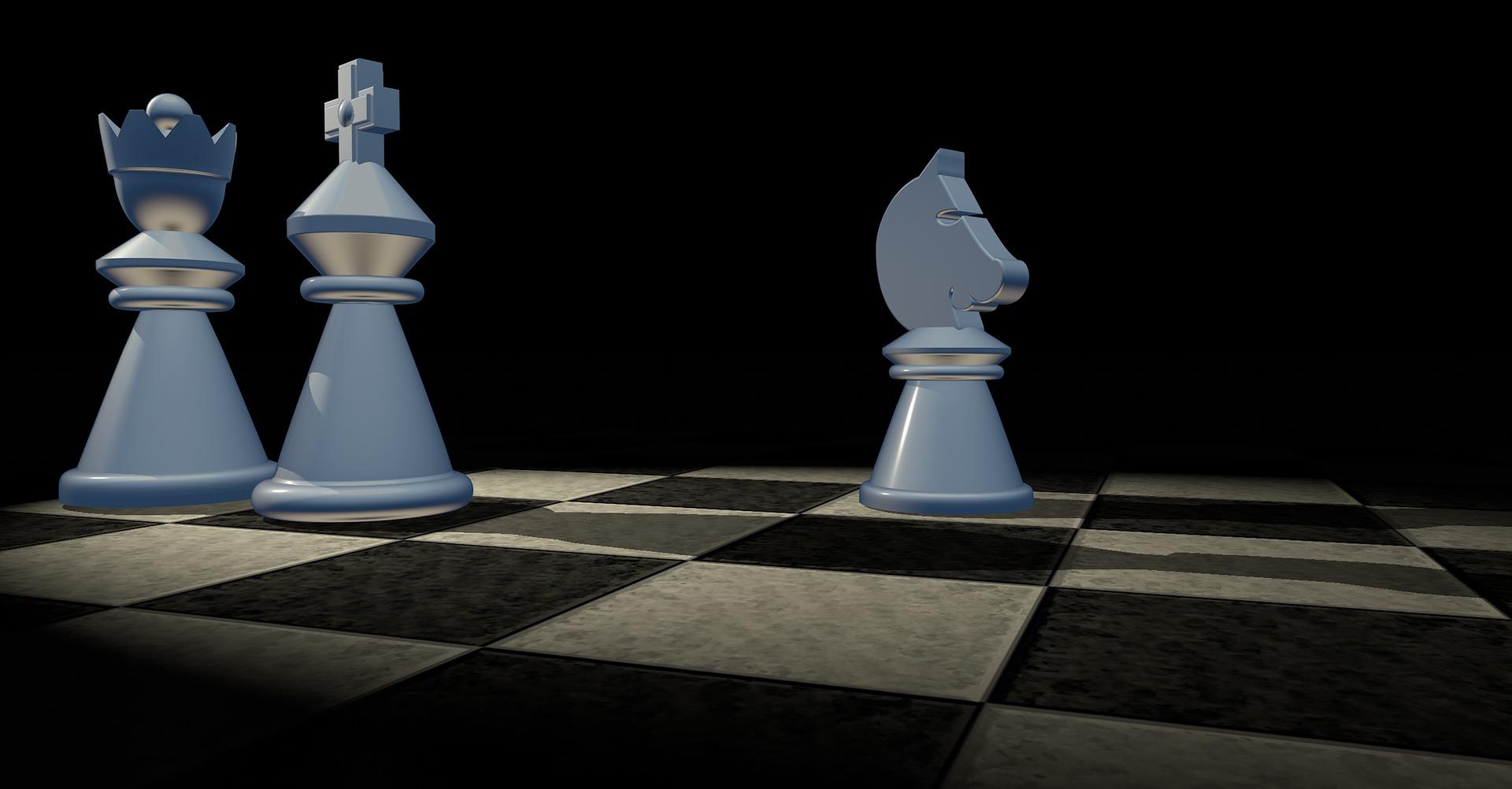 król, hetman, skoczek, szachy dla dzieci, grafika, figury szachowe, szachownica,