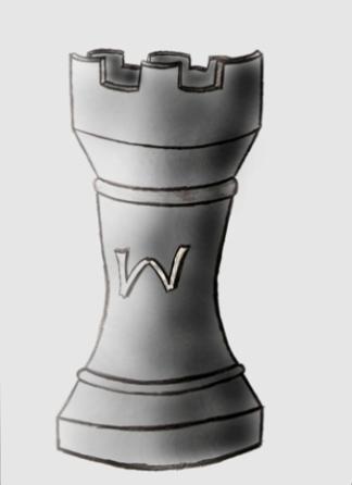 wieża, autor, rysunek, Wojciech Hrycyk, uczeń, Gimnazjum nr 13 im. Unii Europejskiej we Wrocławiu, interaktywny podręcznik szachowy, lekcje szachowe, nauka gry w szachy dla dzieci, piękno w szachach,