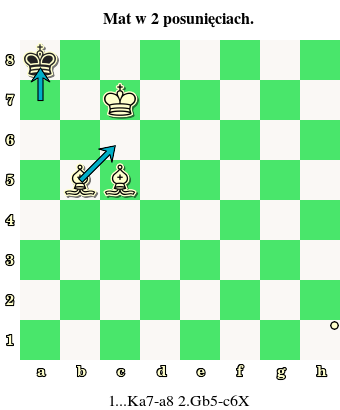 para gońców, gońce matują, mat w 2 posunięciach, daj mata w 2 ruchach, goniec, interaktywny podręcznik szachowy, nauka szachów, szachowe lekcje, diagram, szachownica, współrzędne, szkoła szachowa, szachy dla dzieci,