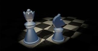 hetman, skoczek, szachy dla dzieci, grafika, figury szachowe, szachownica, współdziałanie,