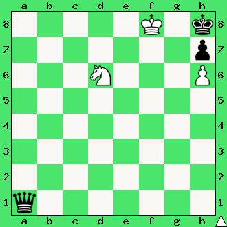 matowanie skoczkiem, mat w 1 posunięciu, zadanie, zadania szachowe, diagram, apronus, interaktywny podręcznik szachowy, skoczek, król, lekcje szachów, nauka gry w szachy dla dzieci,