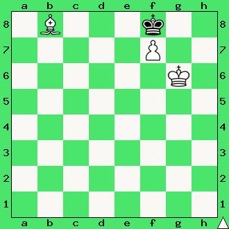 matowanie gońcem, mat w 1 posunięciu, zadanie, zadania szachowe, diagram, apronus, interaktywny podręcznik szachowy, goniec, król, lekcje szachów, nauka gry w szachy dla dzieci,