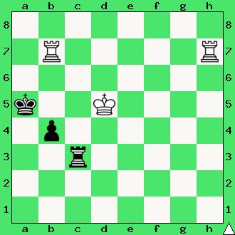 wieża, dwie wieże, matowanie dwiema wieżami, daj mata w 2 ruchach, mat w 2 posunięciach, zadanie, zadania szachowe, diagram, apronus, interaktywny podręcznik szachowy, król, lekcje szachów, nauka gry w szachy dla dzieci,