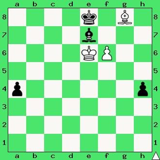 goniec, matowanie gońcem, daj mata w 2 ruchach, mat w dwóch posunięciach, zadanie, zadania szachowe, diagram, apronus, interaktywny podręcznik szachowy, król, lekcje szachów, nauka gry w szachy dla dzieci,